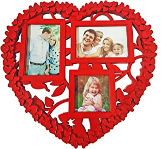 BAAL Plastic Wall Decor Photo Frame (Red)