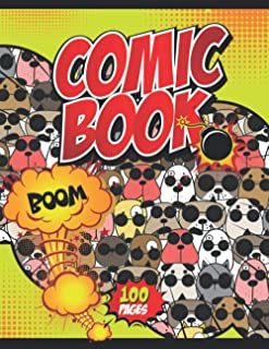 Comic Book Boom!: Notebook and Sketchbook for Kids and Adults to Unleash Creativity | Draw Your Own Comics! (Cute Pet Anim...