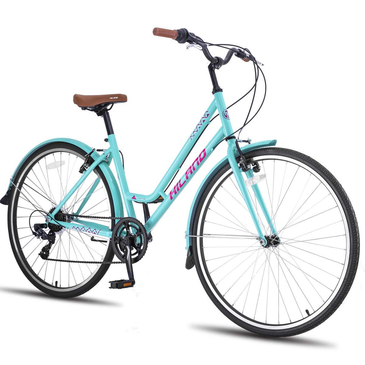 Hiland Romanne Urban City - Bicicleta de Paseo para Hombre: Amazon.es: Deportes y aire libre