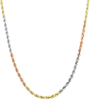 Best 14k tri gold necklace Reviews