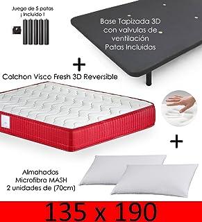 Amazon.es: Somier y colchon 135x190