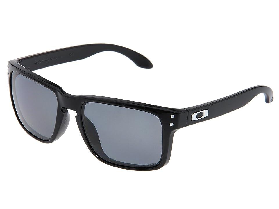 Oakley Holbrook Polarized (Polished Black/Grey Polarized Lens) Sport Sunglasses