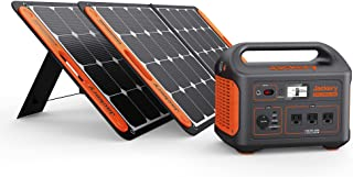 Jackery Solar Generator 1000, Explorer 1000 and 2X SolarSaga 100W with 3x110V/1000W AC Outlets, Solar Mobile Lithium Batte...