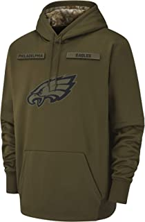 Dunbrooke Apparel Men's Philadelphia Eagles Therma Fit Pullover Salute to Service Hoodie