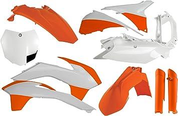 FITS KTM 300 350 450 XC SXF XCF Acerbis Replica Plastic Kit 16 KTM Orange