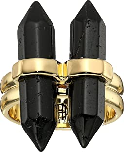 House of Harlow 1960 - Double Crystal Dainty Ring