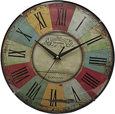 EZ Life Vintage Vogue Wall Clock (30.5 cm X 30.5 cm X 2.7 cm, Multicolor)