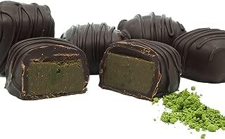 Philadelphia Candies Japanese Matcha Green Tea Meltaway Truffles, Dark Chocolate 1 pound Gift Box