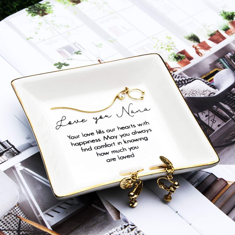 "Grandmother Gift Thoughtful Gift for Nana Mothers Day /""Nana Angel/"" Jewelry Ring Dish for Grandma Valentine/'s Day,Thanksgiving,Xmas Birthday Nana Gift"