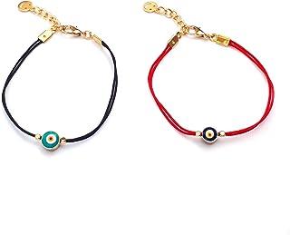Alwan Set of 2 Evil Eye Bracelets for Women - EE9102NST2