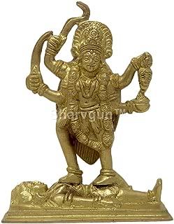 Sharvgun Ma Kali Statue Brass Idol of Devi MATA for Hindu Puja Temple Religious Idols Gift Brass Statues 4.5 Inch