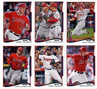2011, 2012,2013 & 2014 Topps Los Angeles Angels Baseball Card Team Sets (Complete Series 1 & 2 From All Four Years )