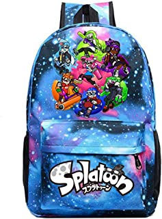 Splatoon Casual Backpack Original Tide Brand Backpack Korean Version Of The Simple College Student Bag Sports Backpack (Color : Light Blue04, Size : 30 X 13 X 43cm)