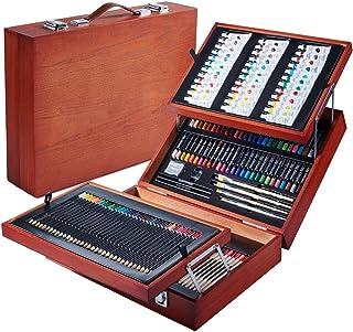 Vigorfun 168 Piece Deluxe Art Set - Art Supplies in Wooden Case for Kids Teens Adults