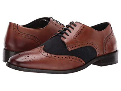 CARLOS by Carlos Santana Szabo Wingtip Oxford (Walnut Calfskin Leather/Suede) Men