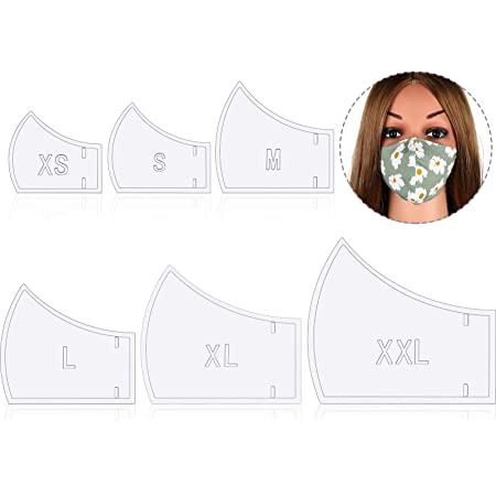 Sewing Ruler Template oceansEdge11 4 Sizes Face Mask Plastic Sewing Templates Fitted Pattern Filter Reusable Mask Templates Pattern for DIY Masks Tool Sewing Ruler Template