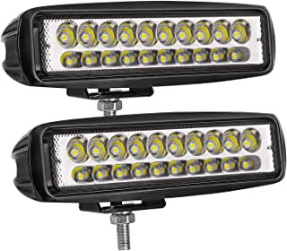 LED Light Bar, 6 inch AKD Part 80w LED Pods Driving Light Off Road Spot Light Bar Led Work Light Boat Lights Waterproof for Truck SUV Jeep Motorcycle Lamp,2 years Warranty