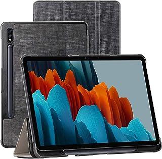 جراب Foluu Galaxy Tab S7 11 بوصة 2020، غطاء ذكي رفيع ثلاثي الطي مع خاصية التنبيه/السكون التلقائي لهاتف Samsung Galaxy Tab ...