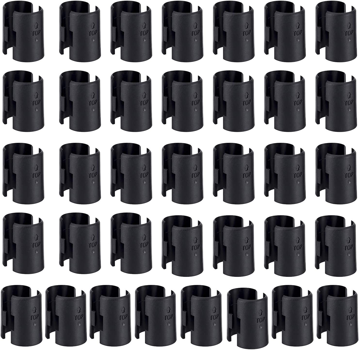 """WAFJAMF 72 Pack Wire Shelving Shelf Lock Clips for 1"""" Post- Shelving Sleeves Replacements for Wire Shelving System: Home Improvement"""
