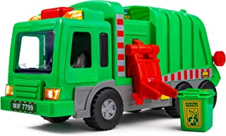 white garbage truck toy