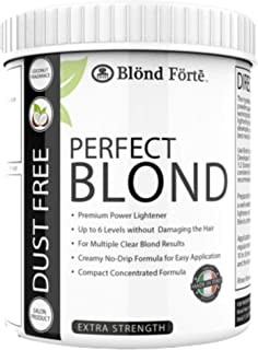 1.1 Pound Tub (500 Gram) Perfect Blond Extra Strength Professional Hair Lightener Bleach - Made in Italy (Blue Powder