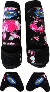 Professional Equine Medium Horse Sports Medicine Splint Boots Bell Floral 4135B