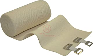 "4"" Elastic Bandages with Clips (Pack of 10), MCR Medical"