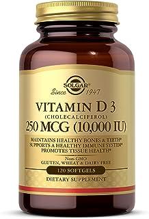 Solgar Vitamin D3 (Cholecalciferol) 250 Mcg, (10, 000 Iu) 120 Softgels