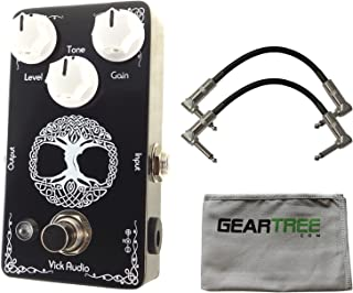 Vick Audio Tree of Life Overdrive Pedal v2 w/Cleaning Cloth and 2 Cables