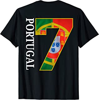 Portugal Soccer National Team shirt Portugal Flag Number 7
