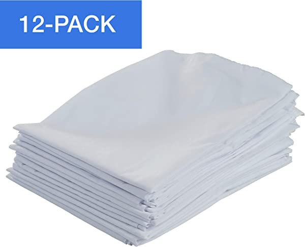 ECR4Kids 12 Pack Standard Cot Sheet With Elastic Straps Standard Size Daycare And Preschool Cot Sheets For Rest Time 50 5 X 21 75 White