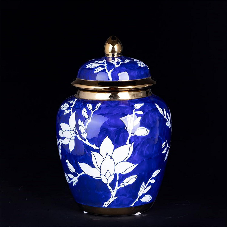 KORANGE Blue and Discount mail order White Ginger Vase Jars Jar NEW Temple De