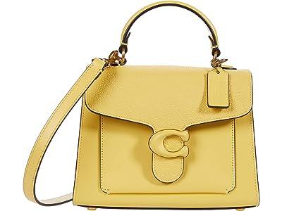 COACH Leather Covered C Closure Tabby Top-Handle 20 (B4/Retro Yellow) Handbags