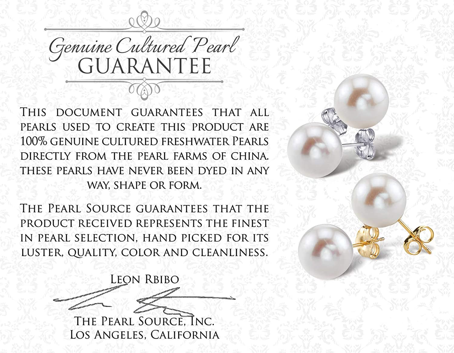 Freshwater Cultured Pearl Earrings for Women with 14K Gold Leverbacks in AAAA Quality - THE PEARL SOURCE