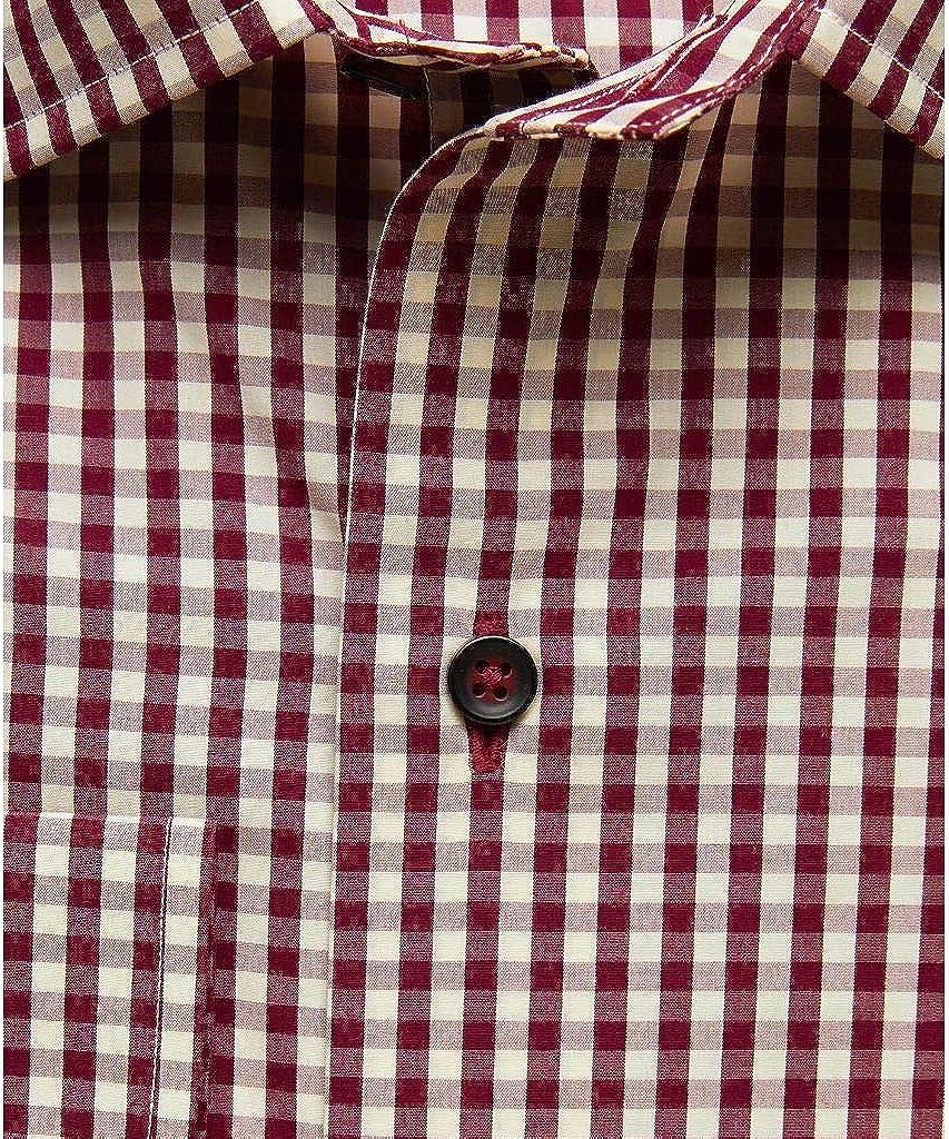David Donahue Trim Fit Long Sleeve Fusion Dress Shirt