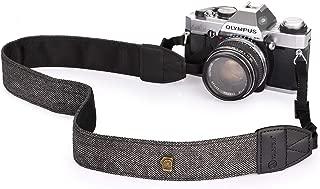 TARION Camera Shoulder Neck Strap Vintage Belt for All DSLR Camera Nikon Canon Sony Pentax Classic White and Black Weave (Upgraded Version)