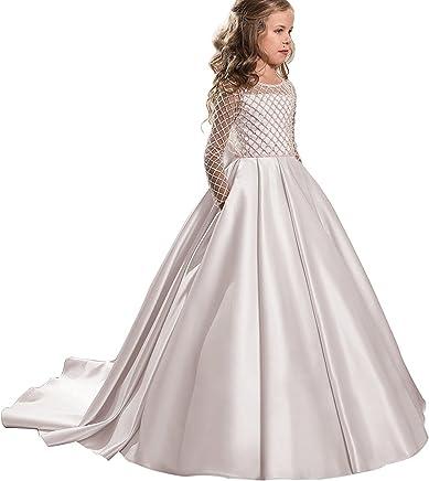 b547872868 GZY Christmas Fancy Flower Girl Dress Long Sleeves Tulle Ball Gowns for Kids  GZY051