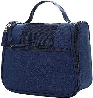 حقيبة سفر معلقة لأدوات الزينة من WSJTT لتنظيم أدوات التجميل للنساء والفتيات مقاومة للماء (اللون: أزرق)