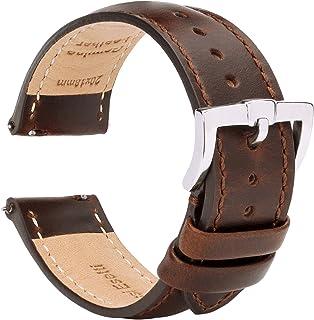 BRISMASSI ESETTI Cinturini in Pelle a Sgancio Rapido Cinturino per Orologio - Half Padded Cinturino in Vera Pelle di Ricambio di Ricambio per Uomo e Donna, Orologi e Smartwatch - 18mm 20mm 22mm