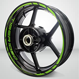 Matte Green Motorcycle Rim Wheel Decal Accessory Sticker for Triumph Tiger 1050