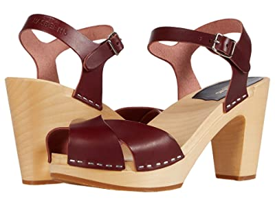 Swedish Hasbeens Merci Sandal (Bordeaux) Women