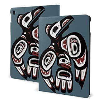 """Raven First Nations Art Ipad Case Air3 & Pro TPU Protective Stand Cover with Auto Sleep Wake Up Ipad for Ipad 10.5"""" Tablet"""