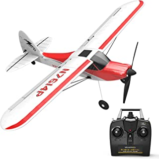 VOLANTEXRC RC Airplane 2.4Ghz 4-CH with Aileron Sport Cub 500 Parkflyer Remote Control Aircraft Plane Ready to Fly with Xpilot Stabilization System, One-Key U-Turn Perfect for Beginner (761-4 RTF)