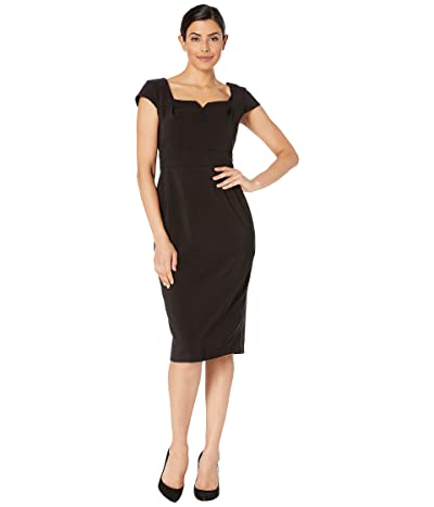 Maggy London Dream Crepe Solid Sheath Dress (Black) Women