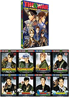 EXO K-POP 4th Repackage Korean Ver. [THE WAR The Power of Music] Album Music CD + Comic book + Photo card + Special Gift