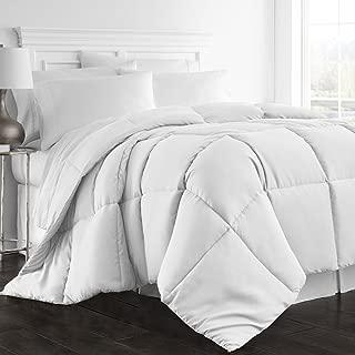 Beckham Hotel Collection 1300 Series - All Season - Luxury Goose Down Alternative Comforter - Hypoallergenic -Queen/Full - White