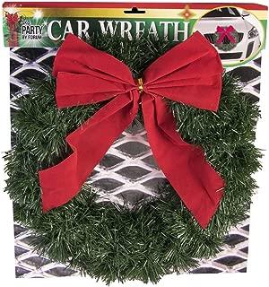 Forum Novelties Holiday Car Vehicle Wreath Festive Decor Automotive Accessory Christmas Prop