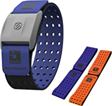 Scosche Rhythm+ Heart Rate Monitor Armband - Optical Heart Rate Armband Monitor with Dual Band Radio ANT+ and Bluetooth Smart - Pack Includes Additional Armband