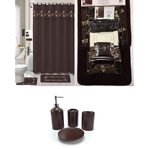 Bathroom Accessory Sets with Matching Shower Curtain ...