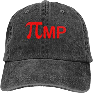 PI - Pimp - Adult Adjustable Printing Cowboy Baseball Leisure Hats Humor Graphic Novelty Sarcastic Funny Caps Black